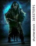 ancient shaman warrior. ethnic... | Shutterstock . vector #365375591