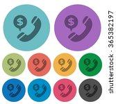 color money call flat icon set...