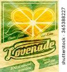 colorful vintage lemonade label ... | Shutterstock . vector #365388227