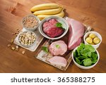 foods highest in vitamin b6 on... | Shutterstock . vector #365388275