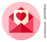 valentine day love postcard... | Shutterstock .eps vector #365399834