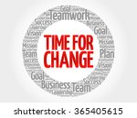 Time For Change Circle Word...