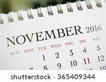 close up calendar of november... | Shutterstock . vector #365409344