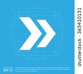 vector next arrow icon | Shutterstock .eps vector #365410151