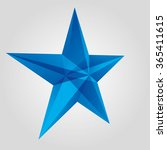 Vector Blue Star. Surround The...