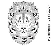 Patterned Head Of The Lion ...