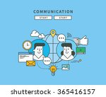simple color line flat design... | Shutterstock .eps vector #365416157