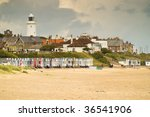 Detail Of Southwold Beach On A...