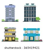 set of vector modern business... | Shutterstock .eps vector #365419421