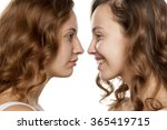 portrait of a young woman ...   Shutterstock . vector #365419715