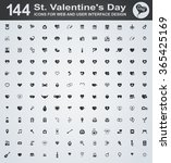 set valentine's day icons | Shutterstock .eps vector #365425169