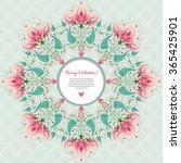 vector frame. beautiful round... | Shutterstock .eps vector #365425901