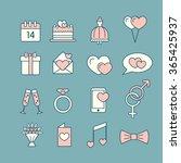 st. valentine's day line icon... | Shutterstock .eps vector #365425937