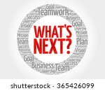 what's next circle word cloud ... | Shutterstock .eps vector #365426099