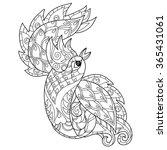 zentangle stylized peacock hand ...   Shutterstock .eps vector #365431061