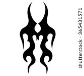 tribal tattoo vector design... | Shutterstock .eps vector #365431571