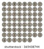 typewriter keys | Shutterstock .eps vector #365438744