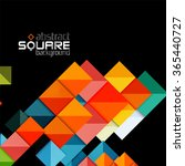 glossy color squares on black.... | Shutterstock .eps vector #365440727