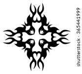 tribal tattoo vector design... | Shutterstock .eps vector #365441999