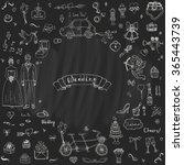 hand drawn doodle wedding... | Shutterstock .eps vector #365443739