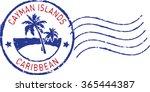 blue postal grunge stamp '... | Shutterstock .eps vector #365444387