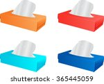 tissue boxes in various colors | Shutterstock .eps vector #365445059