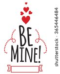 happy valentines day card... | Shutterstock .eps vector #365446484