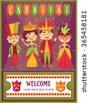 cute kids costume party... | Shutterstock .eps vector #365458181