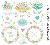 wedding vintage elements... | Shutterstock .eps vector #365482574