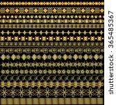 illustration set of borders...   Shutterstock . vector #365485367