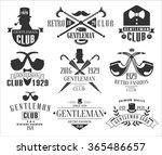 vintage gentlemen club emblems  ...   Shutterstock .eps vector #365486657
