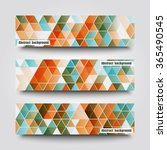 set of banner templates with... | Shutterstock .eps vector #365490545
