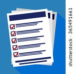 vector illustration of check... | Shutterstock .eps vector #365491661