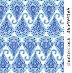 vector boho chic paisley... | Shutterstock .eps vector #365494169