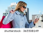 woman using her phone during...   Shutterstock . vector #365508149
