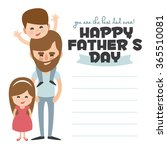 happy fathers day card. vector... | Shutterstock .eps vector #365510081