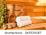 Wooden Finnish Sauna  Shooting...