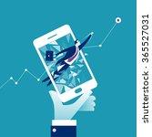 e commerce breaktrough. concept ... | Shutterstock .eps vector #365527031