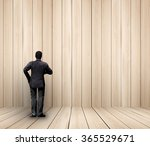 businessman standing with... | Shutterstock . vector #365529671