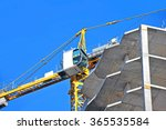 crane and building construction ... | Shutterstock . vector #365535584