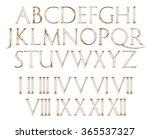 modern roman classic alphabet... | Shutterstock .eps vector #365537327