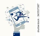 e commerce. business concept | Shutterstock .eps vector #365537387