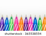 multicolored pen on white... | Shutterstock . vector #365538554