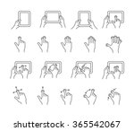 gesture icons for tablet touch... | Shutterstock .eps vector #365542067