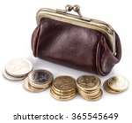 Small Leather Purse For Coins...