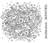 cartoon vector hand drawn... | Shutterstock .eps vector #365547851