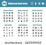 100 universal vector icons  ... | Shutterstock .eps vector #365549435
