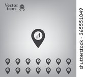 vector   map pointer icon with...   Shutterstock .eps vector #365551049