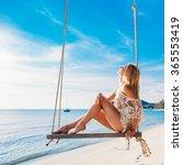 summer portrait of beautiful... | Shutterstock . vector #365553419