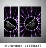 abstract purple circle light... | Shutterstock .eps vector #365556659